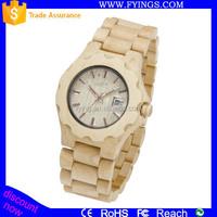2015 japan movt quartz watch stainless steel back wooden watch vogue quartz watch jam tangan
