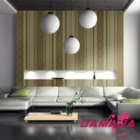 Damaja vinyl coated striped decorative plastic wallpaper