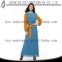 MD41944 New fashion muslim ladies clothing Long sleeve islamic dress patterns Design muslim women clothing modern