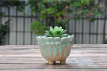Creative Mini ceramic flowerpot flowerpot flow glazed ceramic crafts . ZaKKa floral flowerpot .