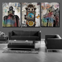 3piece Free shipping hot sale Wall Hanging Combination Painting Decorative Art Picture Paint Canvas Print Abstract butterfly