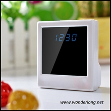 Christmas gift low price wifi alarm clock hidden camera with motion detection
