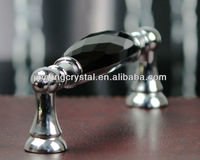 Black Furniture Handle 128mm pitch with Crystal Ornament Wholesales on line