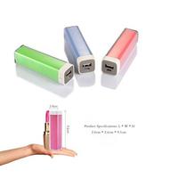 2015 corporate gifts power bank portable lipstick 180mah power bank packing box