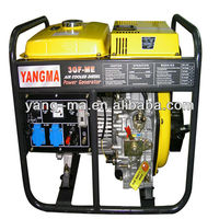 3GF-L Air cooled Open frame single style 220V 3KVA 3KW Portable diesel generator