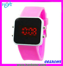 Wholesale mix color geneva led silicone watch bracelets digital wrist watch