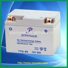 12v 3ah sealed lead acid rechargeable motorcycle battery