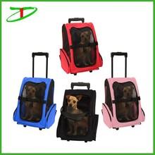 Pet Carrier Dog Cat Rolling Back Pack Travel Airline Wheel Luggage Bag, promotion dog rolling carrier
