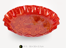 Big design round transparent acrylic fruit plate dry fruit plate,tray