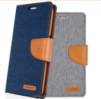 PU+TPU+Denim stand Leather Flip wallet case for ASUS Zenfone 5 CO-LTC-1048