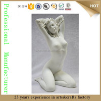 wholesale resin white nude girl statue naked sex girl statue nude women sculpture
