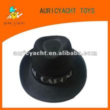 black gangster trilby hat for kid party favor