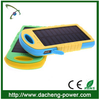 Newly waterproof solar panel charger 8000mah solar charger power bank for phone