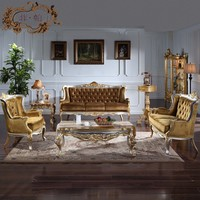 classical carved furniture - solid wood handcraft sofa set