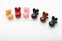Girls Kids Plastic Hair Claw Clip Multi Colors cute candy cellulose high quality rabbit ear hair claw