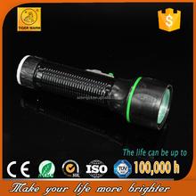 2015 new design classic black tube green ring truss head LED flashlight TM-316