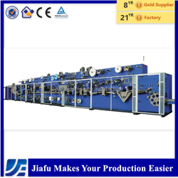 JF-NK-400 half servo disposable baby pamper diaper making machine, raw materials support, diapers production line