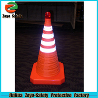 Zoyo-Safety Factory Wholesale Road Leader Adjustable Reflective PVC Or Cotton henna cone mehndi cone