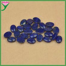 prezzo di fabbrica ovale cabochon retro piatto colore naturale lapislazzuli pietra ingrosso