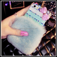 rabbit fur alibaba china smart phone bling phone case for lg