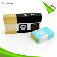 Big vapor e cigarette Innovative Hing Type Battery Cover snowman box mod
