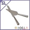 Crystal Knife Set Metal Vegetable Knife Silver Plated Handle Silicone Spatular Wedding Cake Server