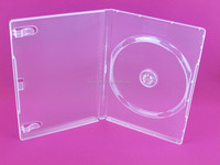 plastic cd dvd case 14mm dvd clear