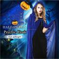 كامل طول هالوين الساحرة عباءة الرأس يكا الزرقاءأفضل يتوهم فستان حفل تنكري