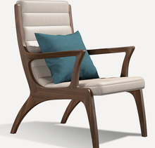 Modern Fashion Design Living Room Furniture Solid Wood Leather Armchair