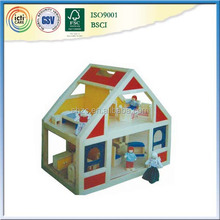 En bois coloré jouet maison de poupée pour les enfants à jouer