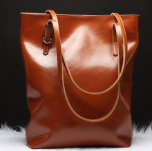 DY0265Z hot sale Europe style real leather tote bag ladies casual tote bag