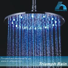 12 Inch Round Brass Bath Ceiling LED Colors Rain Shower Head