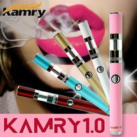 HOT!!!women slim e-cigarette vaporizer kamry1.0 DIY diamond magnetic atomizer cap e cigarette mod starter kit single zipper case