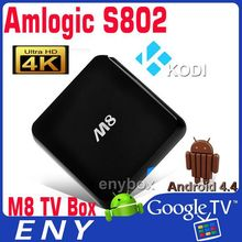 Amlogic S802 Quad core Android 4.4 kikat 3D-HD 1080Px2 XBMC Android TV box EM8 M8 android kikat Quad core box