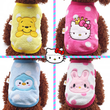 2015 Wholesale Lovable Dogs Dog Cloches 4 Patterns Embroidered XXX Small Dog Clothes