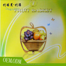 Eco-friendly carbonization treatment solid fruit container basket