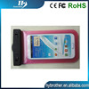 ROHS 0.3mm PVC mobile phone waterproof bag for 4.7 inch