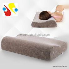 high density contour shape memory foam pillow