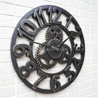 "Mktime 16"" Metal Wall Gear Clocks Factory Direct Sale Clock"