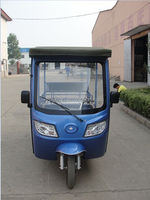 Large loaded china three wheeler 7 Passenger battery operated three wheel tricycl