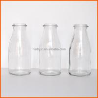High quality clear regular new glass milk bottles sale