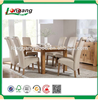 Dining room furniture custom size and color MDF Wooden furniture set/melamine dinning table with 6