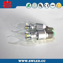 Hot Sale Indoor Led Candle Bulb, 3W Led Candle Bulb Lamps, E14 Led Candle Bulb Light