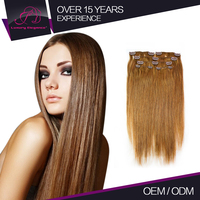 Tangle Free Straight Clip In Hair Human Expression Weaves Hair Produts Extensions Professional Providers