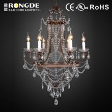 Moderno e innovador de la vela y metal accesorio ligero Altar lámpara de suspensión colgante Altar araña