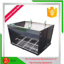 Easy clean/durable double sided pig feeding trough