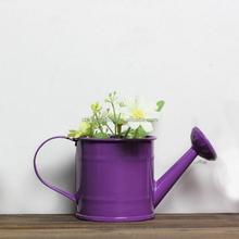 Decorative metal flower pot purple vases cheap