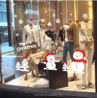 2015 wholesale pvc window static cling stickers Christmas window clings