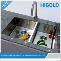 Customized Widely Used Cheap double drainer stainless steel kitchen sink