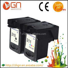 Hot selling Remanufactured Ink Cartridge For Canon PG-210 CL-211 Cartridge for Canon PIXMA MP480/MP490
